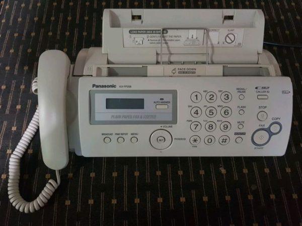 แฟกซ์ Fax Panasonic กระดาษ A4